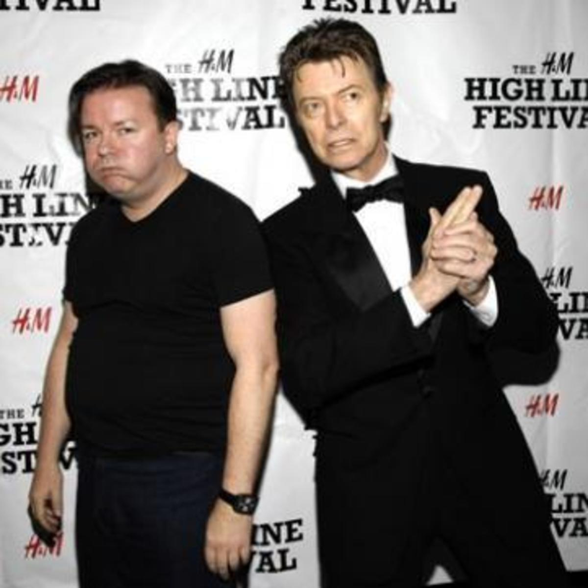 Articlehome ricky gervais david bowie